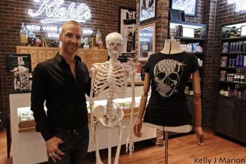 Jason Matlo with Mr. Bones