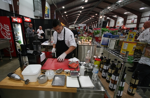 A competing chef in the City TV 'Master Chef' competition at the Fraser Valley F