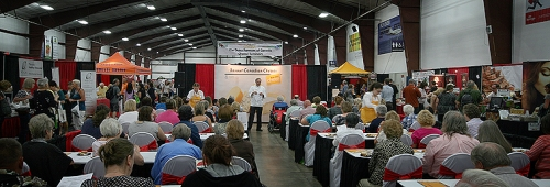 Cheese education class at the Fraser Valley Food Show