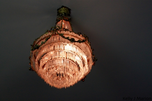 Chandelier at Rowena's Inn on the River