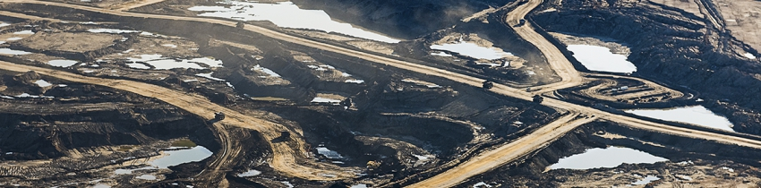 Athabasca tar sands, photographed by Andrew S. Wright