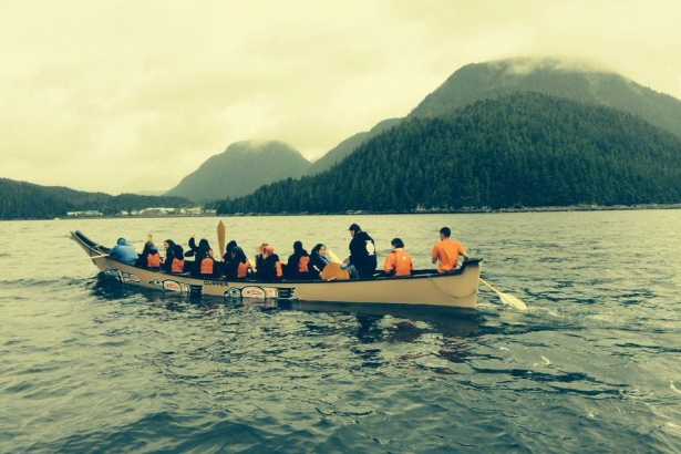 Gitga'at Chain of Hope symbolic blockade of Douglas Channel Northern Gateway