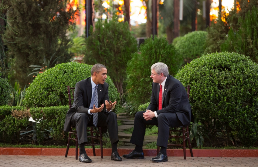 President Barack Obama and Prime Minister Stephen Harper - PMO photo