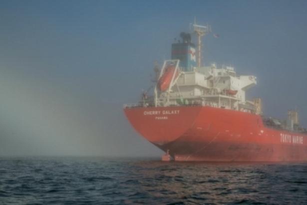 Oil tanker in Burrar Inlet