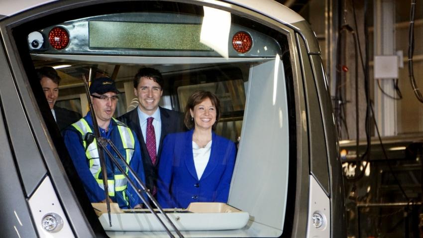 Justin Trudeau, Christy Clark, TransLink, SkyTrain, Burnaby