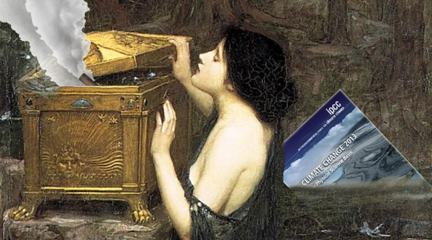Pandora by Waterhouse with IPCC report and emissions