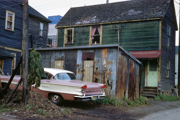 """New Pontiac, 1957""  Fred Herzog, courtesy of the Equinox Gallery"