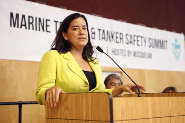 AFN Chief Jody Wilson-Raybould Oil Tanker Safety Summit - Mychaylo Prystupa