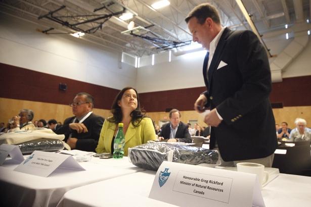AFN Regional Chief Regional Chief Puglaas Jody Wilson-Raybould and Greg Rickford
