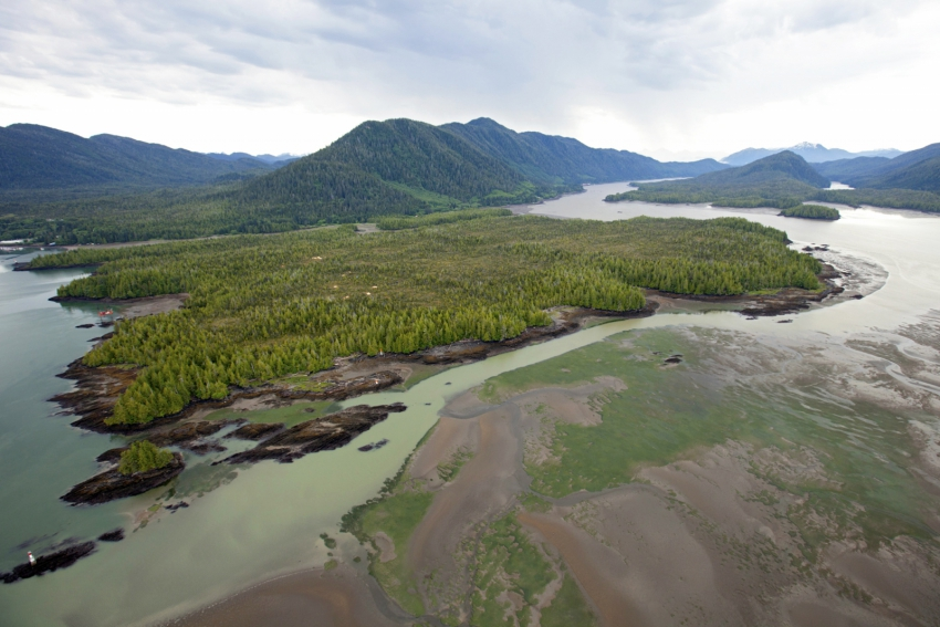 Aerial Skeena estuary at Lelu Island - Brian Huntington