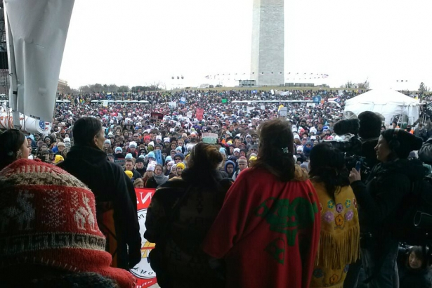 From #ForwardOnClimate website: view of Keystone XL protest in Washington