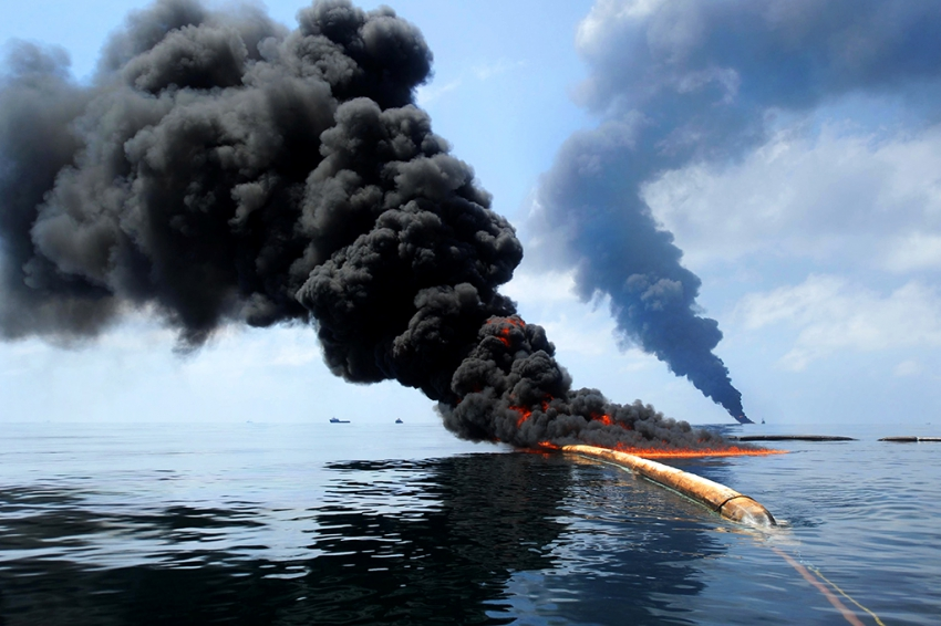 BP Deepwater Horizon Dark oil spill - Gulf of Mexico - US Defence photo