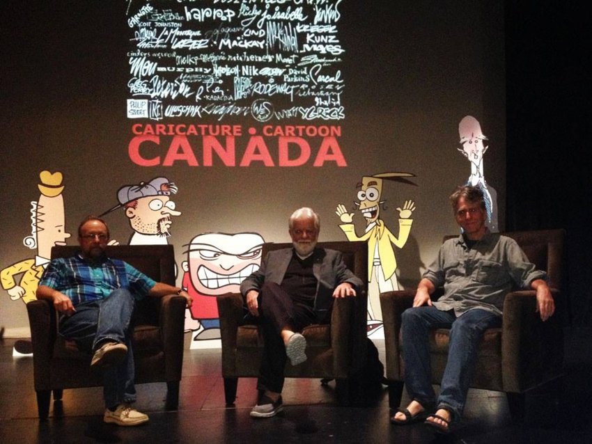 Former Vancouver Province cartoonist Dan Murphy at Satire Fest