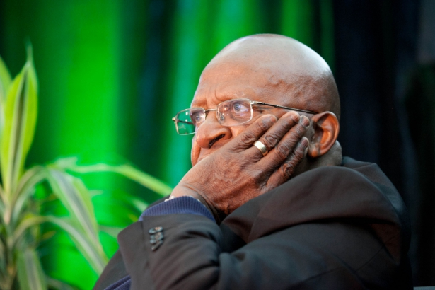 Bshop Desmond Tutu in Fort McMurray