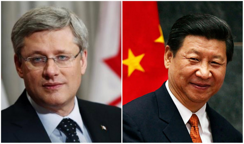 Prime Minister Harper and Xi Jinping, FIPA