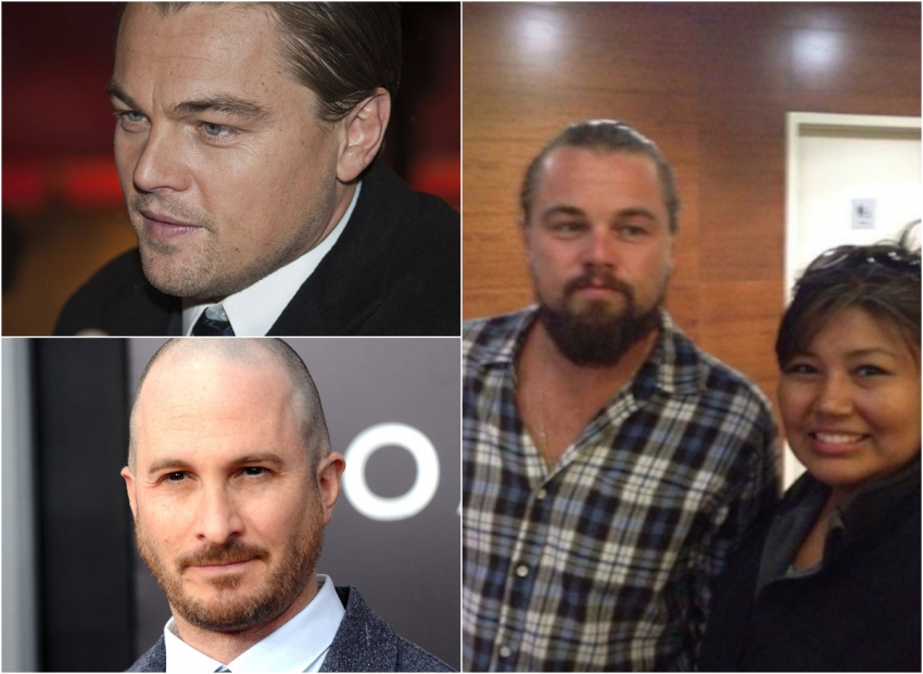 Leonardo DiCaprio and Darren Aronofsky in the tar sands