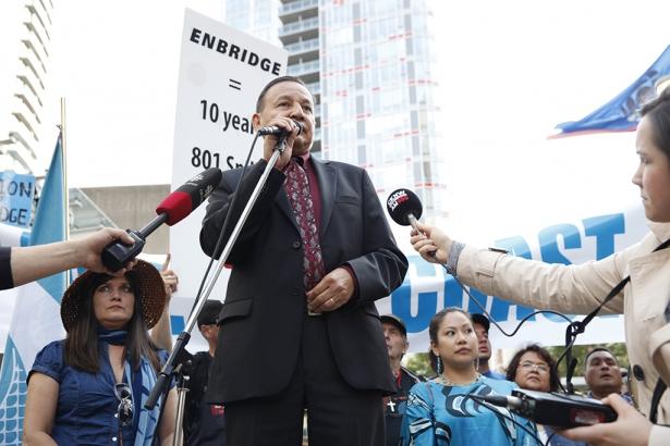 Grand Chief Steward Phillip Northern Gateway Vancouver rally - Mychaylo Prystupa