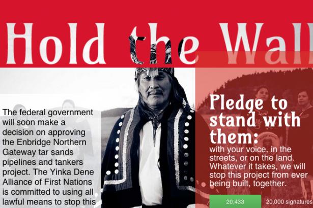 Hold the Wall against Enbridge - Yinka Dene Alliance of First Nations