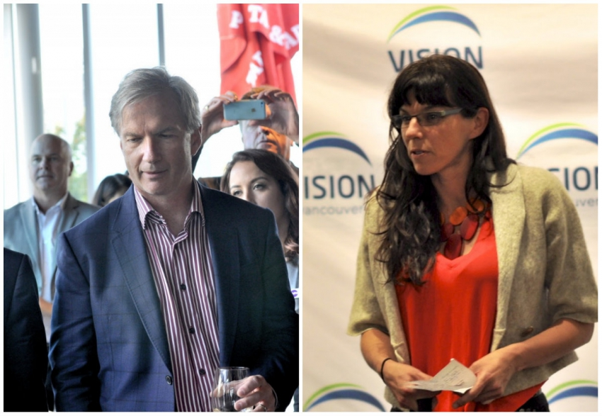 NPA's Kirk LaPointe (left), Vision's Andrea Reimer (right)
