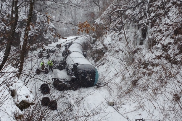 Norfolk Southern Train Derailment Pennsylvania February 13, 2014