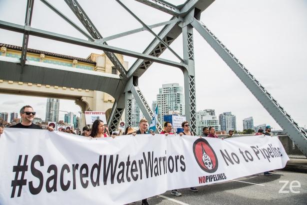 Ocean Day Zack Embree - No to Enbridge Pipeline rally Vancouver Burrard Bridge