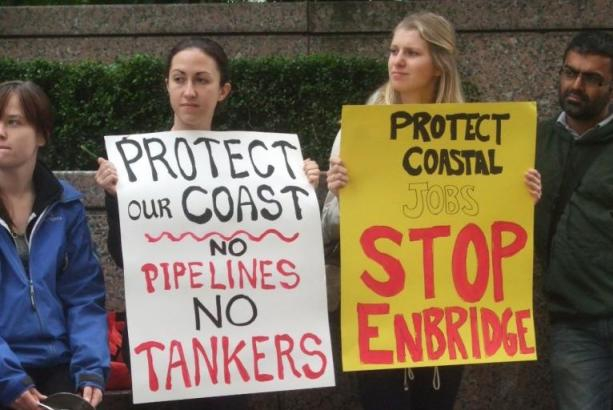 Anti pipeline protest Vancouver BC