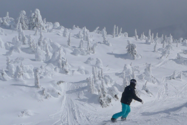 Ride with snow ghosts at Big White