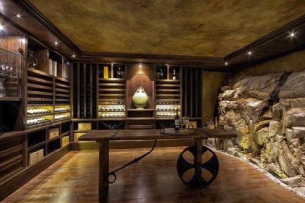Wine cellar in West Van mansion