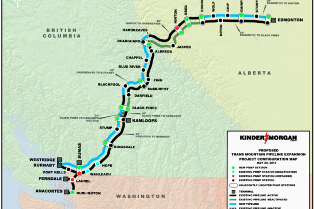 Kinder Morgan Trans Mountain pipeline diagram