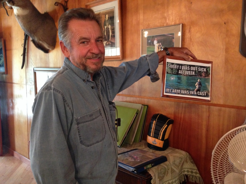 Skeed Borkowski, owner of the Northern Lights Lodge near the Mount Polley mine