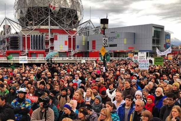 Vancouver oil pipeline protest, Dec.2013.