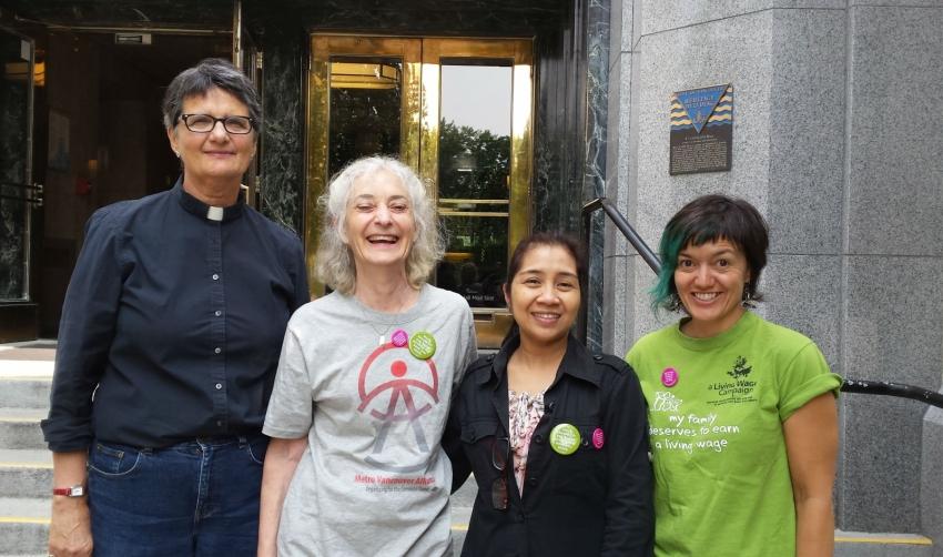 living wage, advocacy, Metro Vancouver Alliance, economy