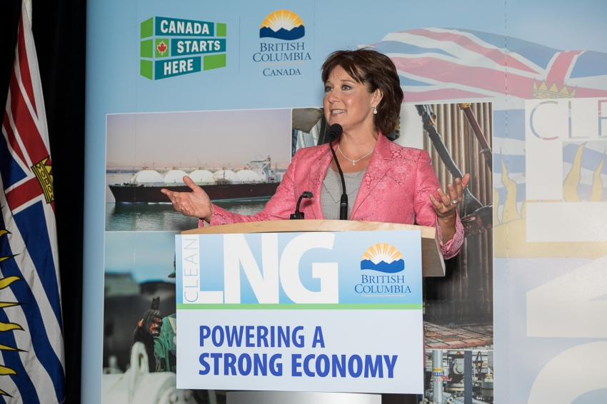 Christy Clark at second annual international LNG in BC conference