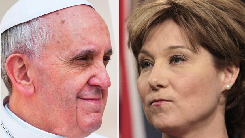 Christy Clark, Pope Francis