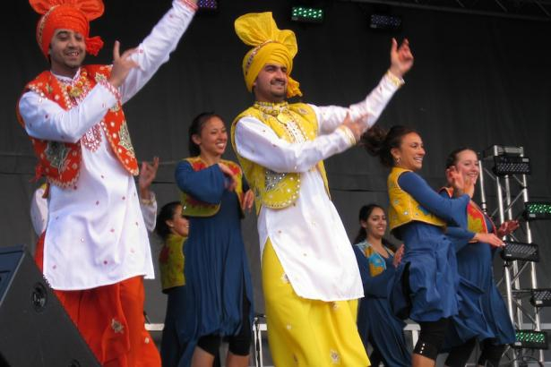 Cross-cultural dance performers by Punjabi and Jewish artists