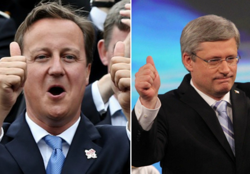 UK election, Stephen Harper, Cameron Tories, Harper Tories