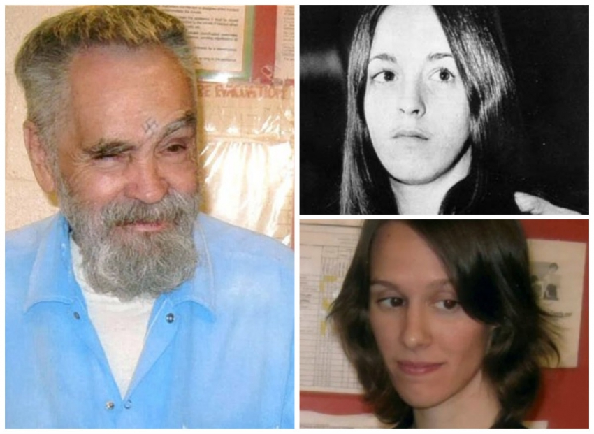 Charles Manson, Sadie Atkins (top right) Afton Burton