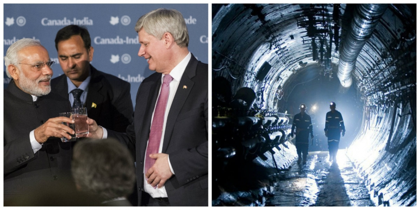 Modi Harper photo Jeremy McKay; Cameco Cigar lake photo Canadian Press