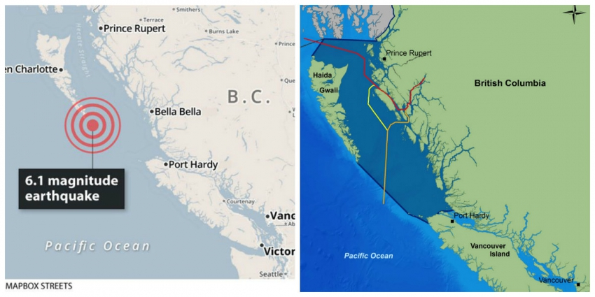 Environment, Haida Gwaii, Northern Gateway pipeline, earthquake, LNG