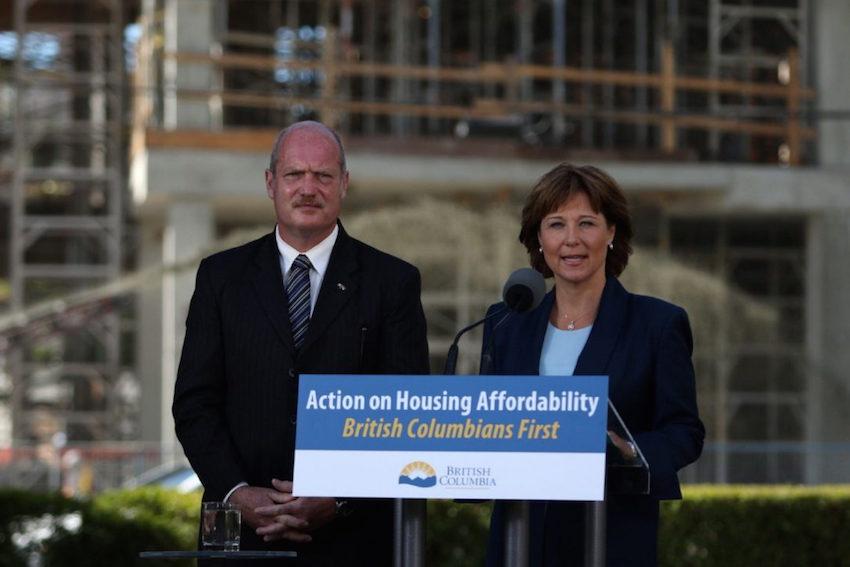 B.C. Premier Christy Clark with Finance Minister Michael de Jong