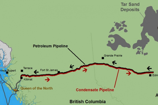 Northern Gateway Pipeline Map
