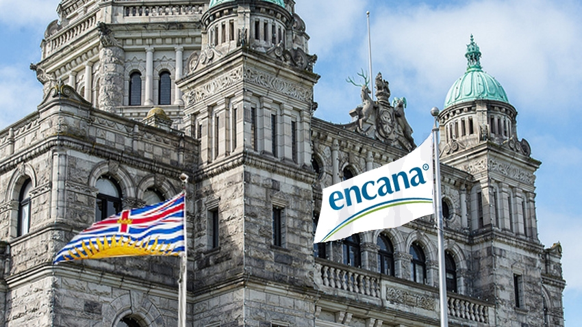 Encana, BC Liberals, Christy Clark, oil and gas, legislature, Pacific NorthWest