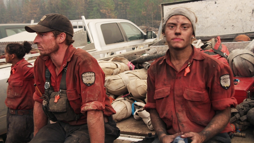 wildfire, forest firefighters. Photo by Aaron Williams