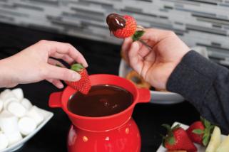 Chocolate fondue, an old classic making a comeback