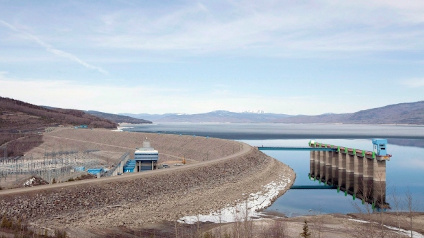 The W.A.C. Bennett Dam on the Peace River