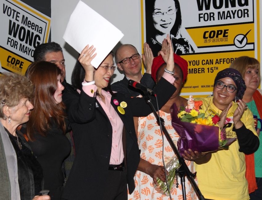Meena Wong election result speech Photo by Sindhu Dharmarajah