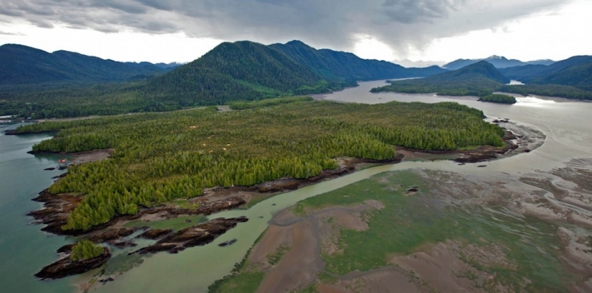 Lelu Island, proposed site of Pacific NorthWest LNG facility