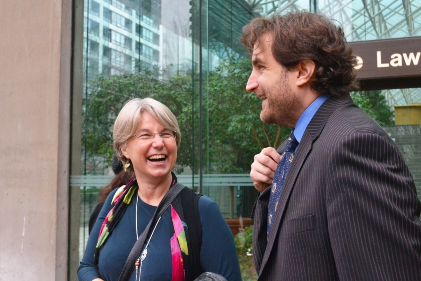 Lynne Quarmby and lawyer Jason Gratl key Kinder Morgan ruling - Jenny Uechi