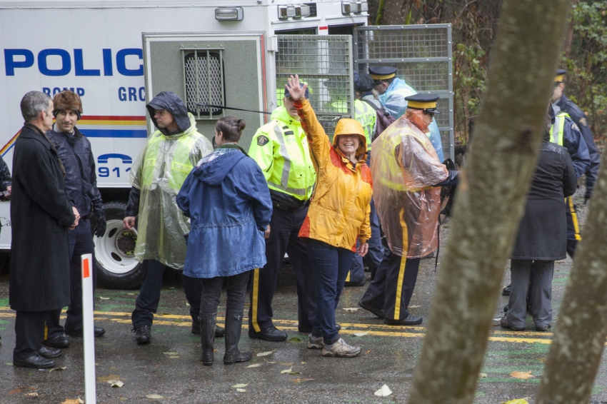 SFU Lynne Quarmby arrested Kinder Morgan Burnaby Mountain Mychaylo Prystupa