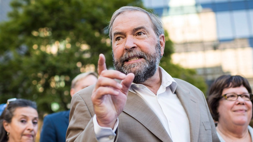 Federal NDP leader Thomas Mulcair at the Vancouver Art Gallery. CP file photo